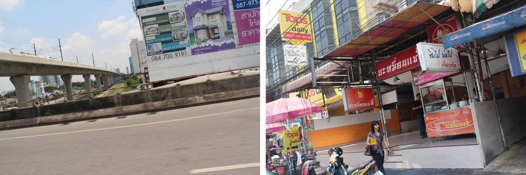 エカマイストリートをひたすら北上、メンジャイ交差点を左折しパシャウティ通りの先