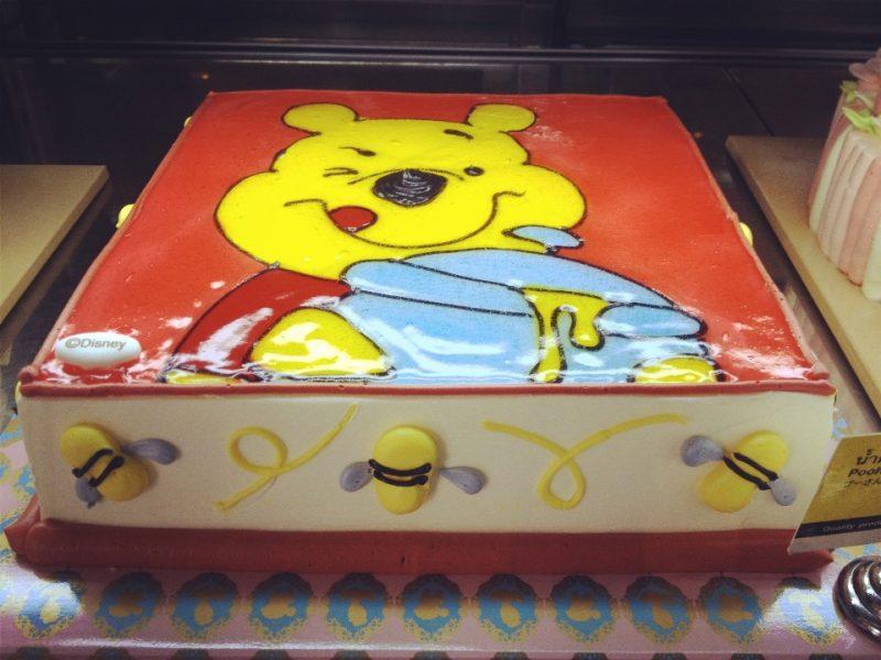 くまのぷーさんケーキ