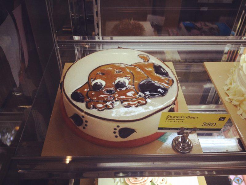 犬のバターケーキ