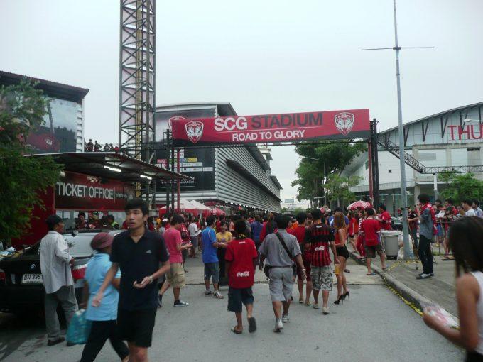 バンコクの北隣にあるSCGスタジアム