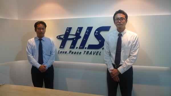 H.I.S.バンコク支店・支店長の鈴木 淳氏(左)とシニアセールスの相川和也氏(右)