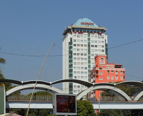 ジェイサットジェネラルサービス社が入居するヤンゴンのサクラビル
