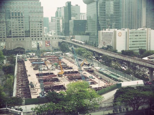 着々と開発が進められている都市部のコンドミニアム