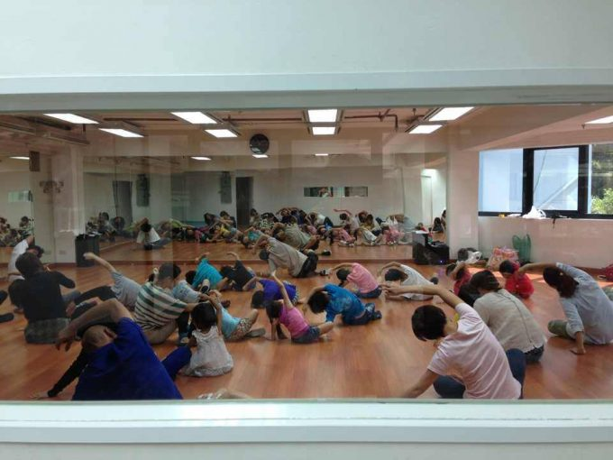 1月19日に行われた、子供向けヒップホップダンスのワークショップ