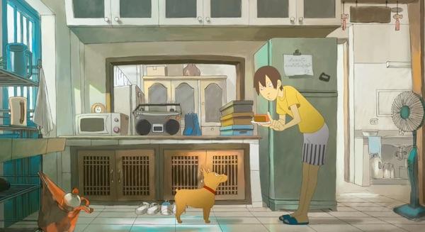 色鮮やかに表現されたキッチン