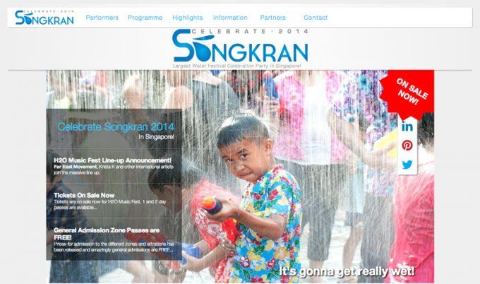 Celebrate Songkranの公式サイト