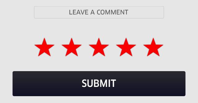 ドライバーの評価画面