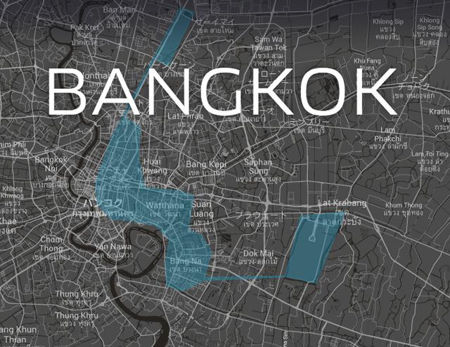 バンコクで利用可能なエリア