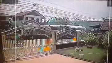 付近の防犯カメラがとらえた爆発の瞬間映像