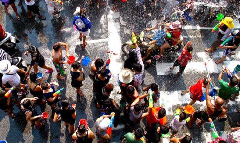 タイで最も盛り上がる水かけ祭りソンクラン