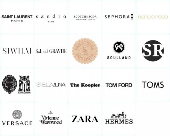出店予定の主なファッションブランド