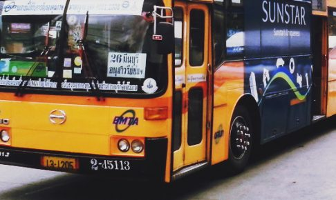 バンコクのバスで無料WIFIサービス