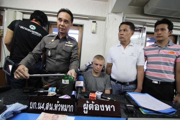 逮捕されたロシア人の男