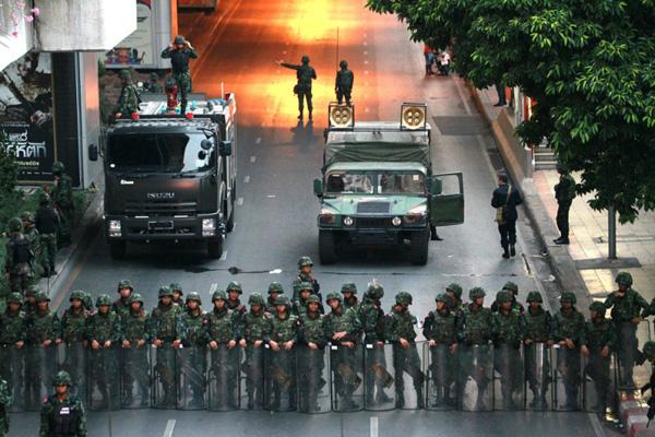 5月22日に起きたタイの軍事クーデター