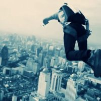 バイヨークスカイタワーからのベースジャンプに失敗