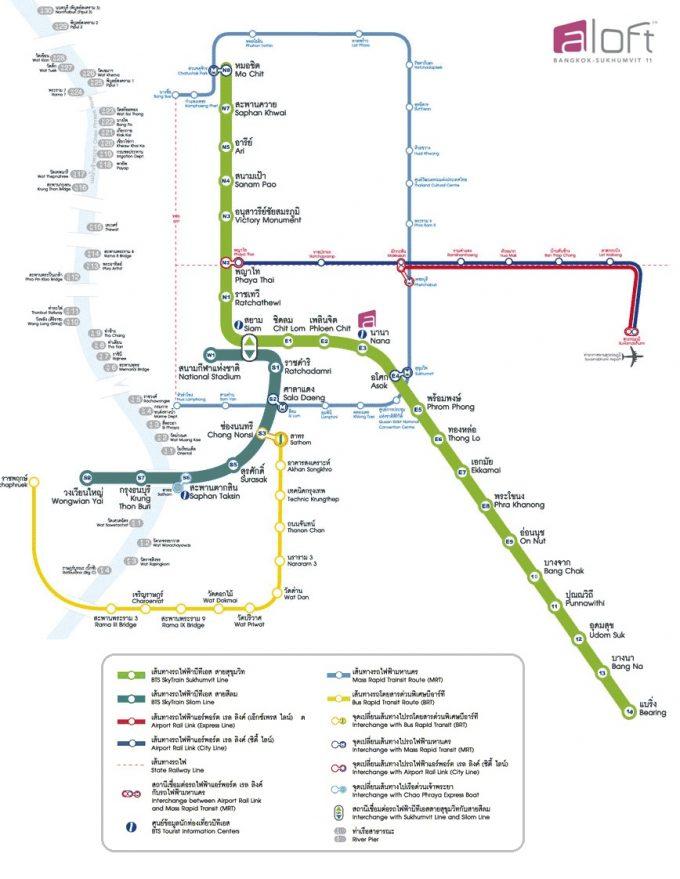 現在のバンコク路線図