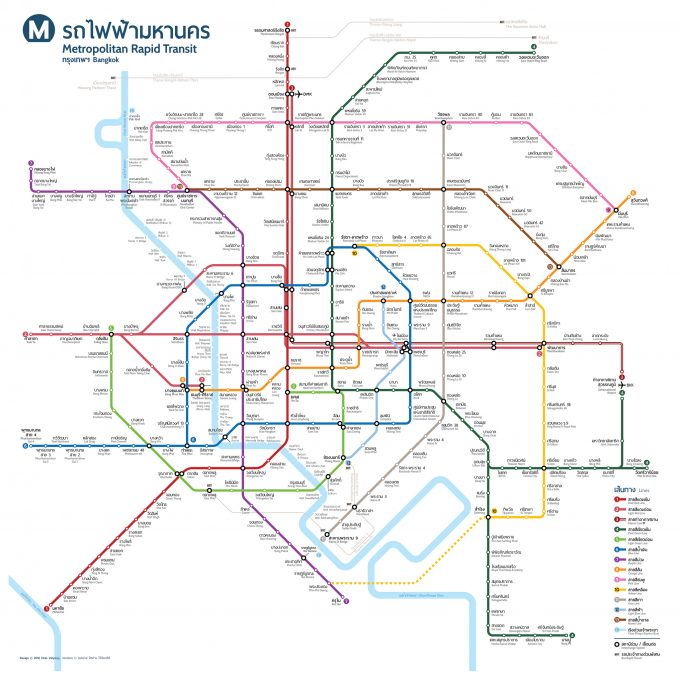 14年後のバンコクの路線図