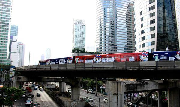 タイの高架鉄道BTS