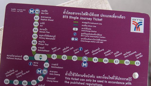 BTSカード(切符)