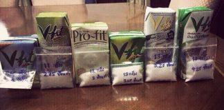 タイの市販ドリンクに入っている砂糖量