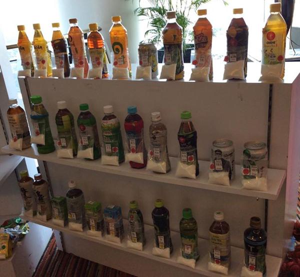 ペットボトル緑茶各社の砂糖量