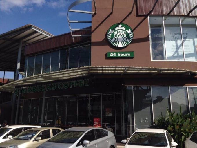 STARBUCKS DRIVE THRU THE SCENE TOWN IN TOWN店