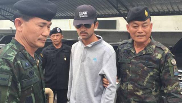 タイとカンボジアの国境で逮捕されたバンコク爆破事件の容疑者