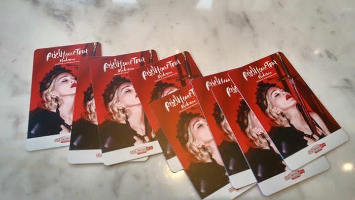 マドンナのコンサートチケット