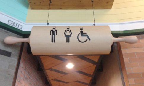 ターミナル21のお洒落トイレ入り口