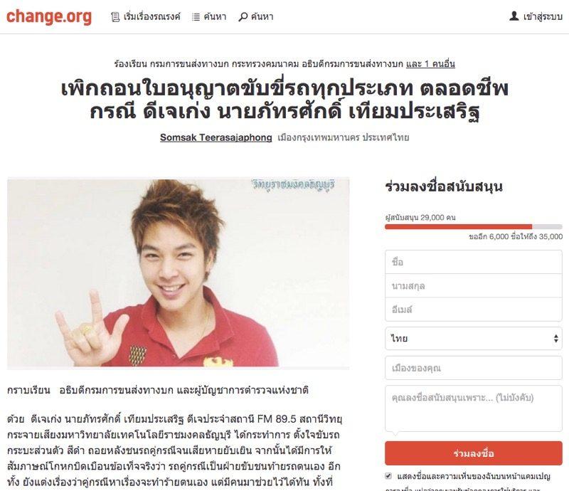 デジタル署名サイト Change.org