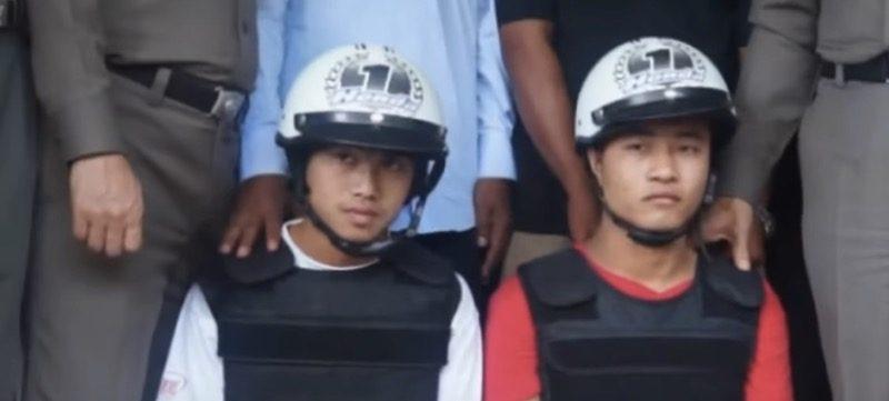 無罪を主張する2人のミャンマー人