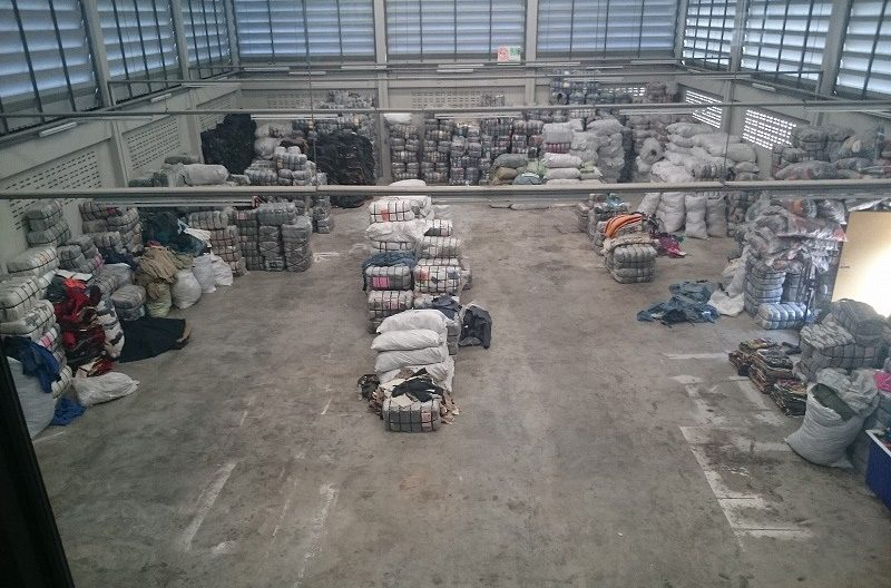倉庫の一部