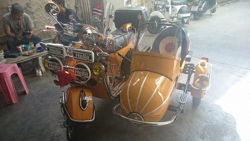 愛好家が定期点検に持ち込んだバイク。