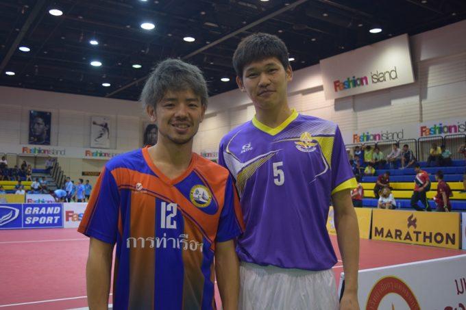 大会に参戦している日本代表の寺島選手(左)と玉置選手
