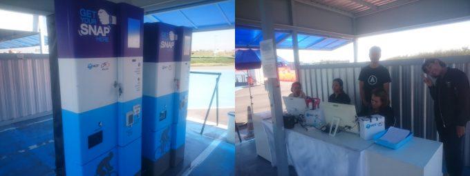 タイ人IDは左の機械、外国人パスポートは右の受付でチェックイン