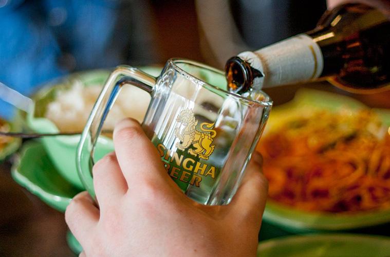 タイ料理とビール