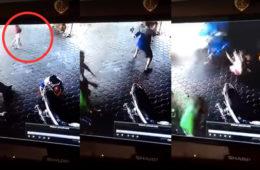 防犯カメラの映像
