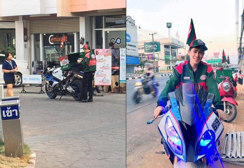 自身の高級バイクでピザの宅配を行う大学生