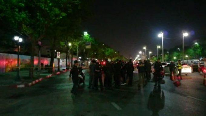爆発のあったラチャダムヌーン・クラーン通り ©matichon