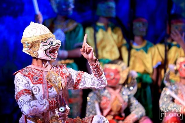 タイの仮面舞踊劇「コーン」に登場する猿将ハヌマーン ©Nation TV