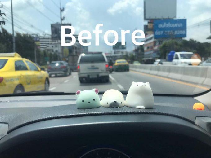 車に飾っておいたゴム製の人形が暑さで溶ける ©Ise Paramour(facebook)