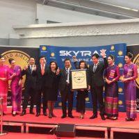 「World Airline Awards 2017」のエコノミー部門「World's Best Economy Class」で1位を獲得したタイ航空 ©Nation TV
