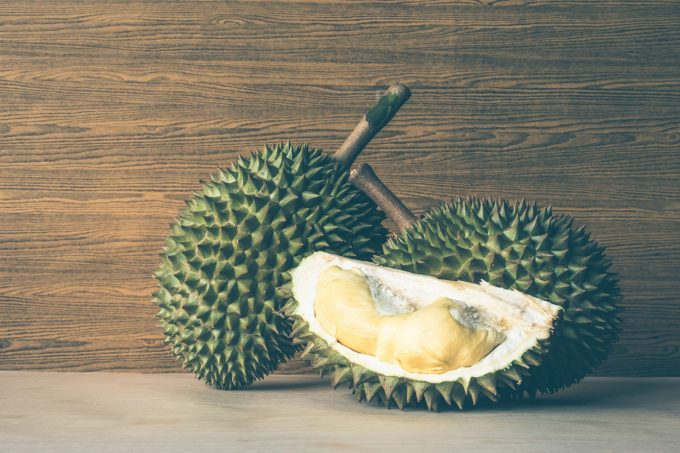 生の果物輸出量第1位のドリアン ©Thai Health Promotion Organization