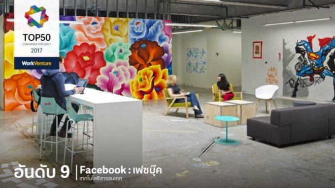 タイの若者が選ぶ「働きたい会社」9位のFacebook ©Work Venture