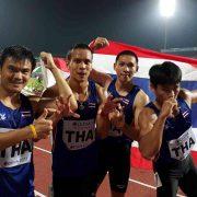 アジア陸上競技選手権大会 2017 400mリレーで銀メダルを獲得したタイ ©Khaosod