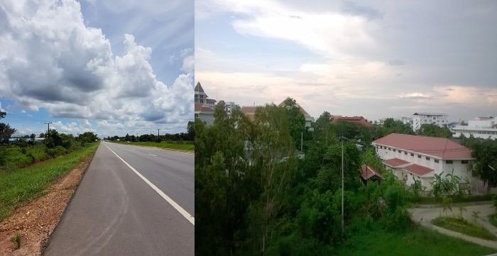 タイの田舎と私が働いている大学