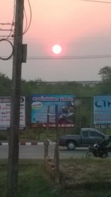 タイの朝の太陽