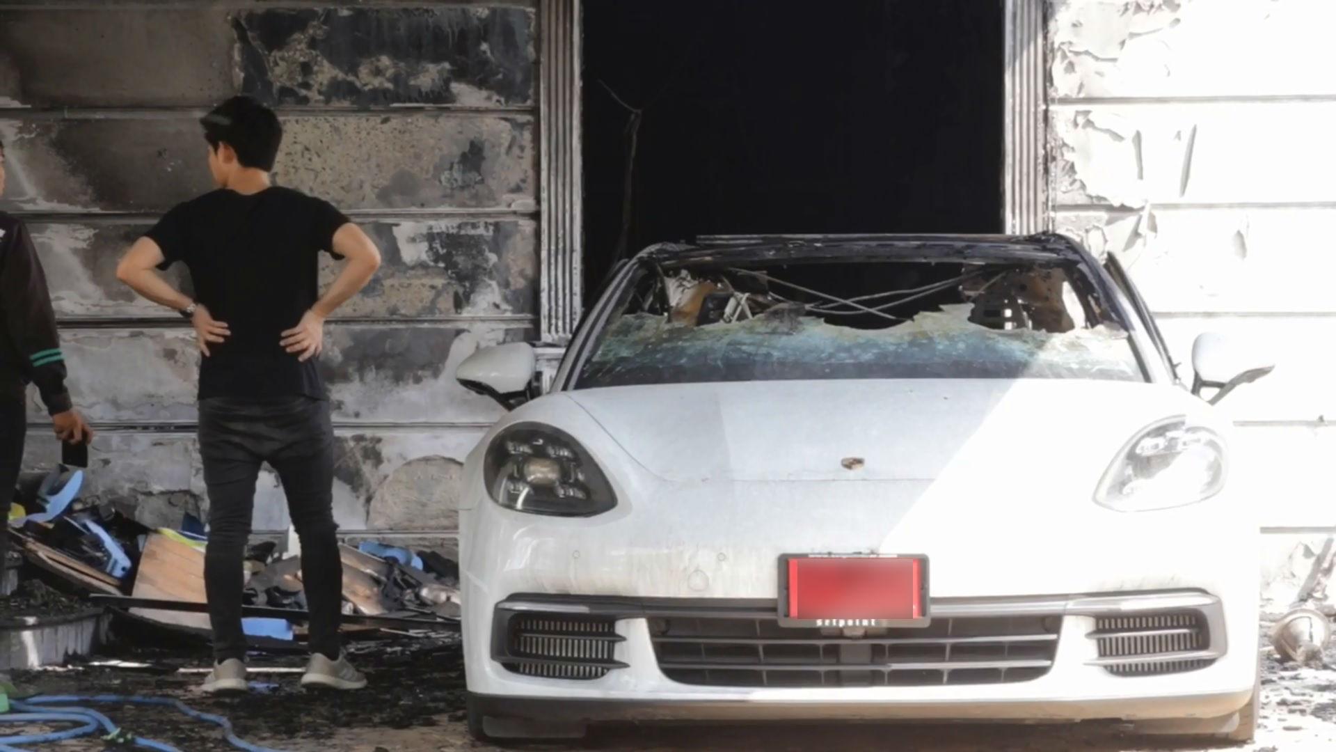 炎上した車両と持ち主