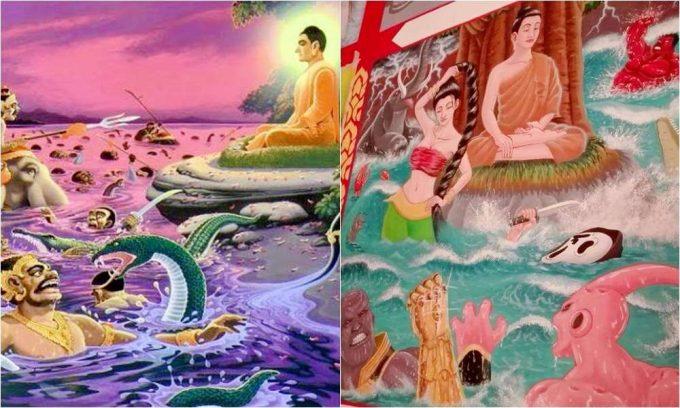 物議をかもしだしている仏教絵画