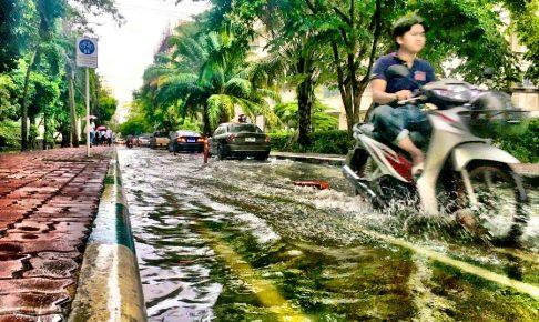 某大学キャンパスの浸水